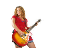 Young musician girl isolated Royalty Free Stock Photography