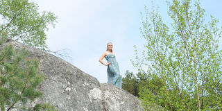 Young musician woman Royalty Free Stock Images