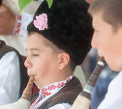Young musicians in the folk festival in Bulgaria Stock Image