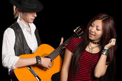 Young Musicians Perform Song Royalty Free Stock Photography