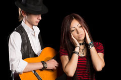 Young musicians performing a song Stock Photography