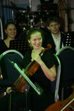 Young musicians Symphony orchestra of the St. Petersburg state University of culture. Stock Photography