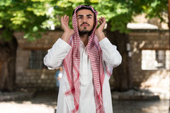 Young Muslim Arab Praying Stock Image
