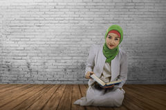 Young muslim asian woman with hijab style Royalty Free Stock Images