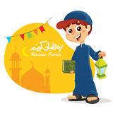 Young Muslim Boy Holding Quran Book Royalty Free Stock Photos