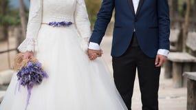 Young muslim bride and groom wedding photos