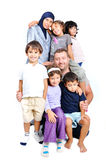 Young muslim family with many members isolated Stock Images