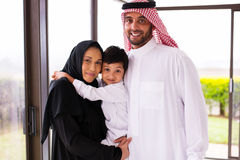 Young muslim family Stock Photography