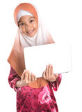 Young Muslim Girl With Laptop VII Stock Photos