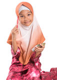 Young Muslim Girl With Pencil and Notepad II Stock Image