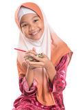 Young Muslim Girl With Pencil and Notepad VI Stock Photography