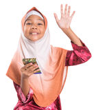 Young Muslim Girl With Pencil and Notepad VIII Stock Photography