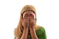 Young Muslim girl praying Royalty Free Stock Photography
