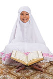 Young Muslim Girl Reading Al Quran III Stock Photos