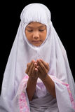 Young Muslim Girl Saying A Prayer II Stock Image