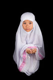 Young Muslim Girl Saying A Prayer III Royalty Free Stock Image