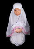 Young Muslim Girl Saying A Prayer IV Stock Photo