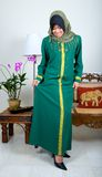 young Muslim girl in traditional full suit Royalty Free Stock Photography