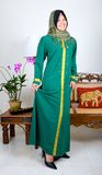 Young Muslim girl in traditional full suit Stock Photos