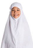 Young Muslim Girl In White Hijab V