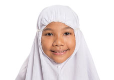 Young Muslim Girl In White Hijab VII Royalty Free Stock Photos