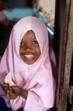 A young Muslim girl, Zanzibar Royalty Free Stock Images