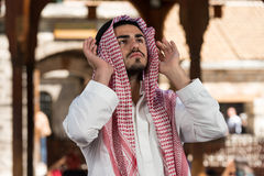 Young Muslim Guy Praying Royalty Free Stock Photography