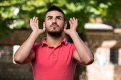 Young Muslim Guy Praying Royalty Free Stock Photography
