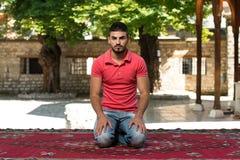 Young Muslim Guy Praying Royalty Free Stock Images
