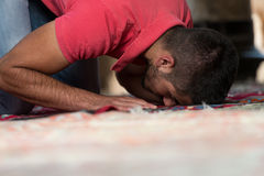 Young Muslim Guy Praying Royalty Free Stock Image