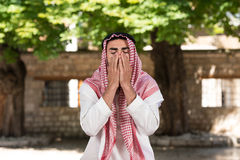 Young Muslim Man Praying Royalty Free Stock Photography