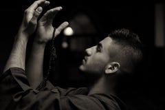 Young Muslim Man Praying Royalty Free Stock Photo
