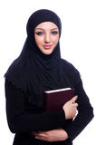 Young muslim woman with book Royalty Free Stock Image