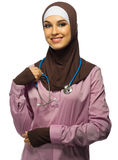 Young muslim woman doctor Royalty Free Stock Photography