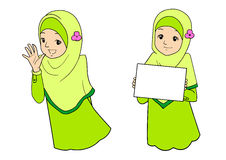 Young muslim woman with facial expressions. Young muslim woman with various facial expressions and gesturing. Vector illustration vector illustration