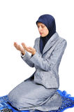 Young muslim woman praying Stock Photo