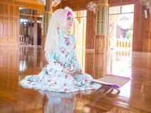 Young muslim woman praying for Allah Stock Photos