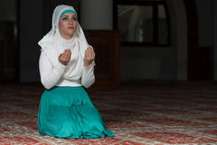 Young Muslim Woman Praying Royalty Free Stock Photography