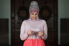 Young Muslim Woman Praying Royalty Free Stock Photos