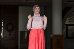 Young Muslim Woman Praying Stock Image