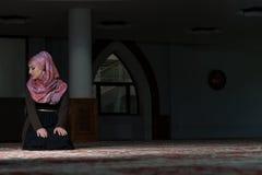 Young Muslim Woman Praying Royalty Free Stock Image