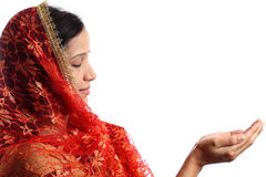Young Muslim woman praying Royalty Free Stock Photo