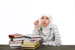 A young muslim woman in traditional clothes Stock Images