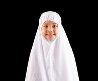 Young MuslimGirl In White Hijab I Royalty Free Stock Images