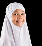 Young MuslimGirl In White Hijab II Stock Image