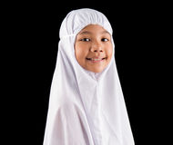 Young MuslimGirl In White Hijab IV Royalty Free Stock Image