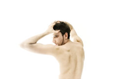 Young naked dancing man Royalty Free Stock Photo