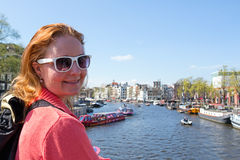 Young native dutch woman in Amsterdam Netherlands Stock Photography