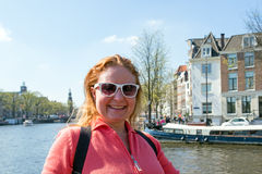 Young native dutch woman in Amsterdam Netherlands Stock Image