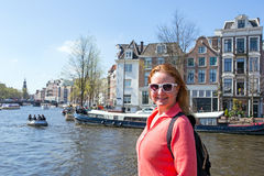 Young native dutch woman in Amsterdam Netherlands Royalty Free Stock Photography
